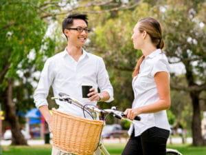 Couple with Bike