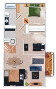 Emsworth 2 Bedroom Floor Plan