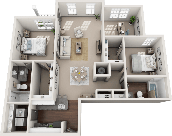 Flats at 146 Halstead 2 Bedroom Floor Plan