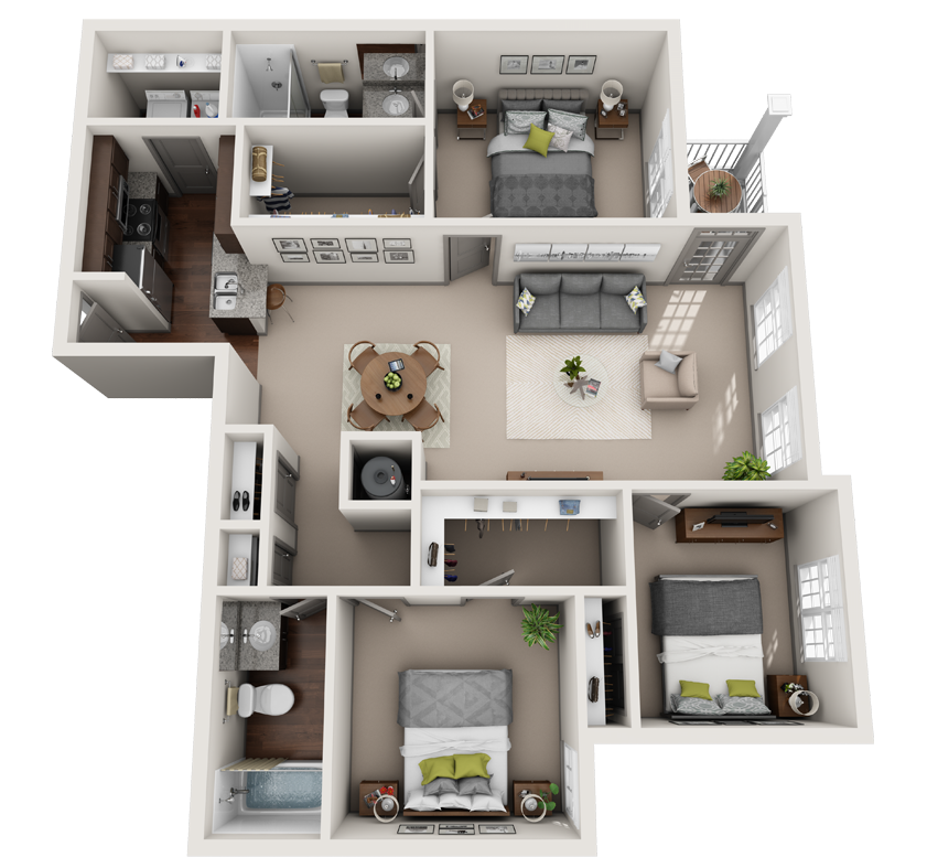 Kingston 3 bedroom floor plan