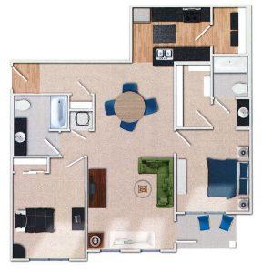 Fleetwood 2 Bedroom Floor Plan